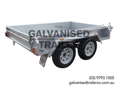 8x5 tandem Trailer Galvanised Heavy Duty With 300mm Sides & 800mm Mesh Cage