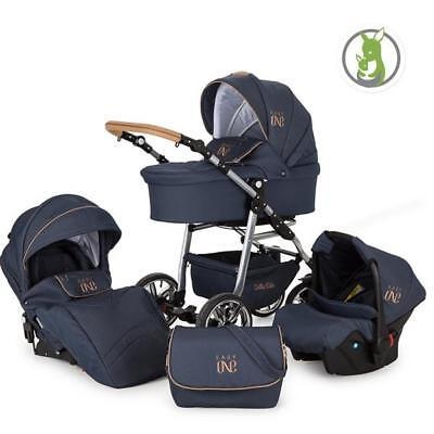 Lux4Kids KInderwagen Set 3in1 Autositz Buggy Babywanne Babyschale Easy One