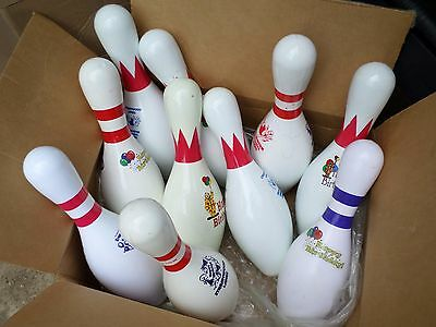 Case of 10 Birthday Party Bowling Alley Pins Trophy Crafts Lamp Shooting Targets