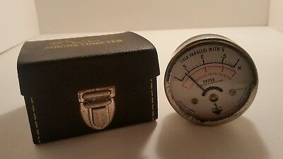 Vintage Annis Model 25 Pocket Magnetometer with Case