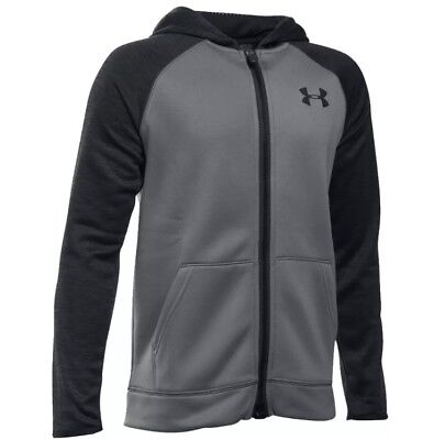UNDER ARMOUR Junior Boys Fleece Storm Full Zip Hoodie New UA Kids Jacket