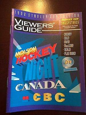 1992 Stanley Cup Viewers Guide