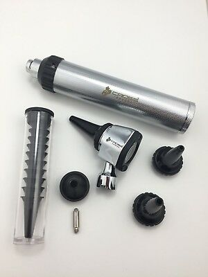 Otoscope Diagnostic Set, Made of Brass,Bright and Whitest LED illumination