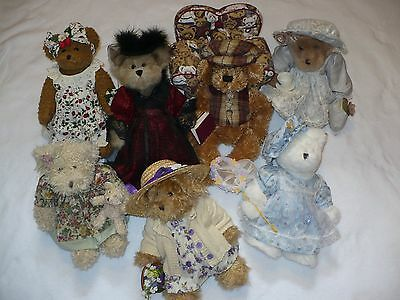 7 Avon Teddy Bear Bears Hat Box Teddies Lot