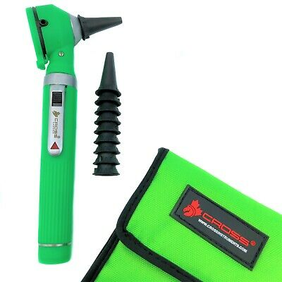 Fiber Optic LED Pocket Otoscope Diagnostic Set - Green