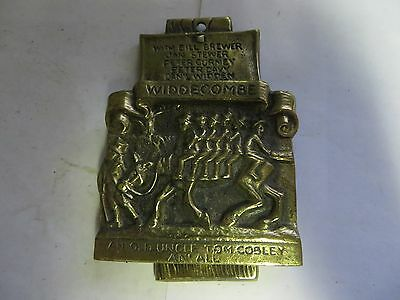 """""""Widdecombe an' Old Uncle Tom Cobley an' All"""" Brass Antique English Door Knocker"""