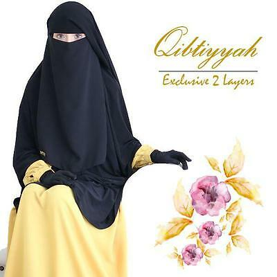 [Best Seller] Premium 2 Layers Niqab - Breathable Chiffon Aritachi No1 Korea