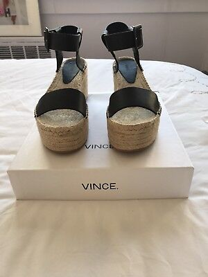 2eea9bc6b27 VINCE ABBY LEATHER Platform Espadrille Sandals