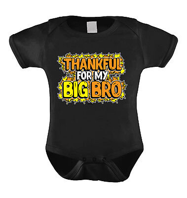 Thankful For My Big Bro- Thanksgiving fall sibling big brother Infant Bodysuit
