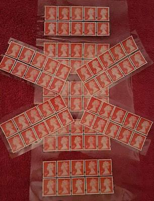 24 - 1st Class Stamps Unfranked Off Paper With Original Gum Easy Peel And Stick