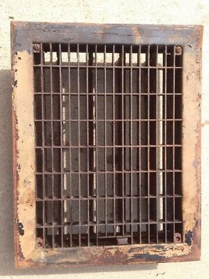 S 17 Antique Sheet Metal Floor Heating Grate With Fins