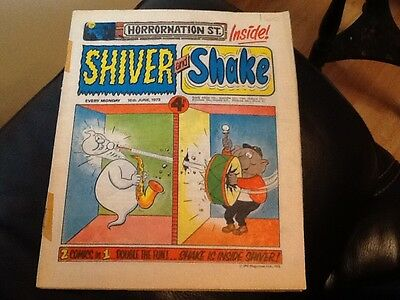 SHIVER AND SHAKE  Paper comic 1973 ISSUE NUMBER 15 . Still in great condition