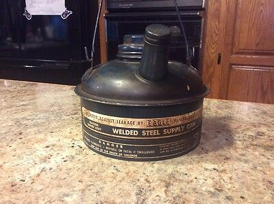 Vintage Eagle Welded Steel Supply Can....1/2 Gallon