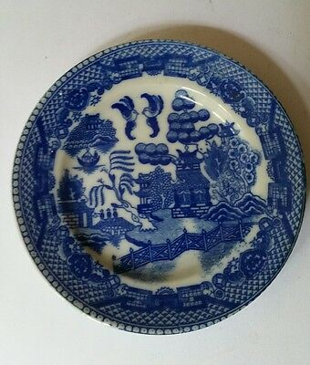 small vintage willow pattern plate