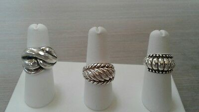 925 sterling silver rings lot, great pre owned condition, 22.4 g weight,
