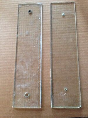 B 70 Antique Pair Of Beveled Glass Push Plates For Swing Door