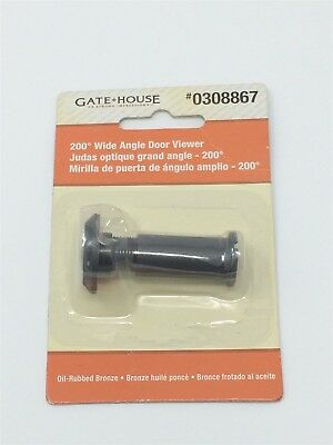 Gatehouse 1.03-in 200-Degree Oil-Rubbed Bronze Entry Door Viewer