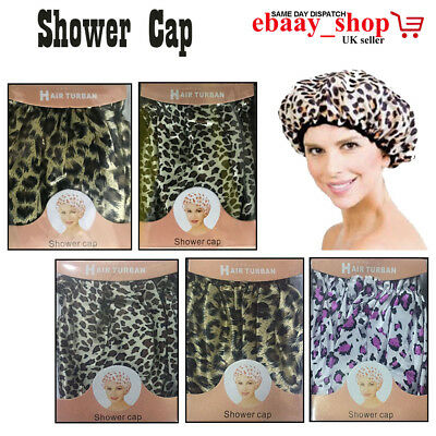 Bath Shower Clear Plastic Head Hair Protector Cover Salon Shower Cap Reusable