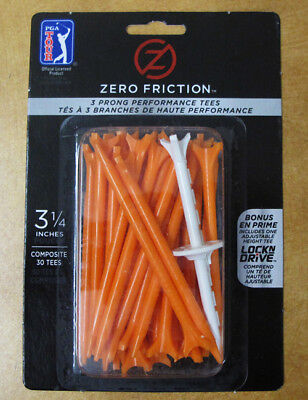 "Zero Friction Tee 3 1/4"" 3 Prong 360 Tees (Multiple Colors)"