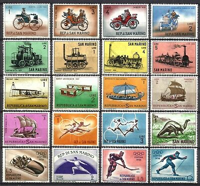 San Marino, Very Nice Thematic Selection Of 20 Different, Mnh 18, 2 Mh, Lot Sm03