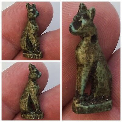 Beautiful Ancient Egyptian Amulet On Stand 300BC