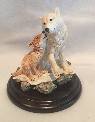 Country Artists Motherly Love Figurine #CA804 Wolf & Cub