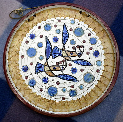 Vintage Israeli Hand Made Shalom Peace Wall Plate Signed