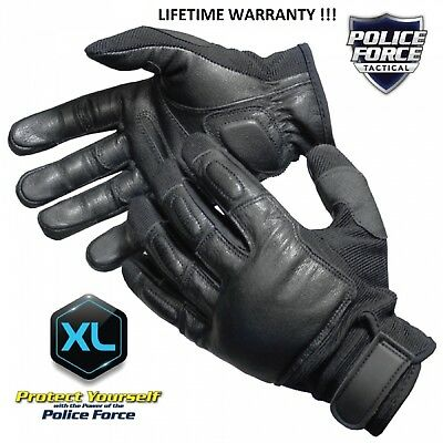 Leather Police Tactical Weighted Sap Gloves Xl Lifetime Warranty New In Box