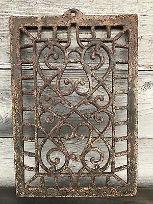 Antique Ornate Cast Iron Heat Grate ~ Vintage Ornate Heat Vent