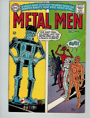 Metal Men #15 (Aug-Sep 1965, DC)! FN6.5+! Silver age DC beauty! SOLID BOOK!