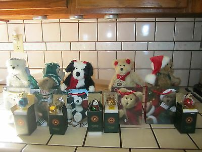 """Brand New Set Of 5 Boyds Gift Bag Sets ~~ 6"""" Animals & Ornaments & Gift Bags"""