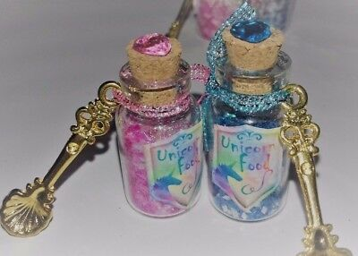 🦄UNICORN FOOD / Unique little Fairy Dust Glitter Bottles / with Charm / Gift🦄