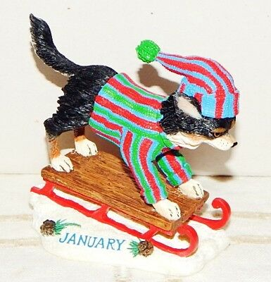 Danbury Mint Chihuahua January Christmas Ornament