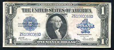 """Fr. 238 1923 $1 One Dollar """"Horseblanket"""" Silver Certificate About Unc"""