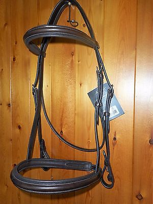 Mark Todd Padded Cavesson Bridle O/S WB XFull Brown w/reins