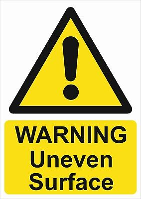 Warning Uneven Surface A5/a4/a3 Sticker Or Foamex H&s Sign - Site Sign