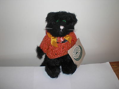"Boyds Bears Fraid E Cat 6"" tall Retired 1995. N.W.T. Archive collection 9198"