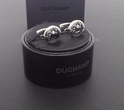 Nwt. Duchamp London = Field Pheasant Cufflinks= Black.