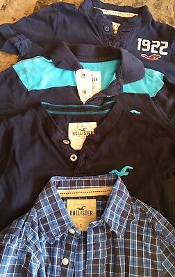 Lot of 4-Men's Hollister Shirts-Size S-Pre-Owned