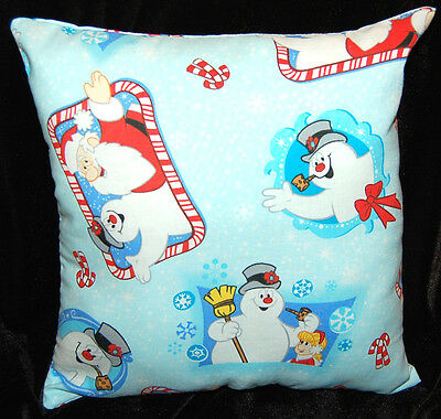 New Handmade Frosty The Snowman/ Santa  Holiday Christmas Pillow