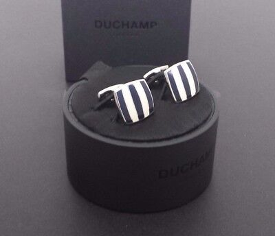 Nwt.  Cushion Stripe Cufflink By Duchamp London.