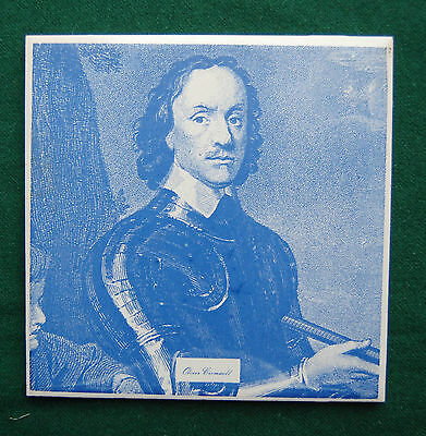 Oliver Cromwell Tile - Decorative Wall Plaque - UK History, Parliament, Politics