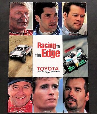 Original 1998 Toyota Motor Sports Brochure ~12 Pages ~ F1~Off Road~Cart ~ Tms98