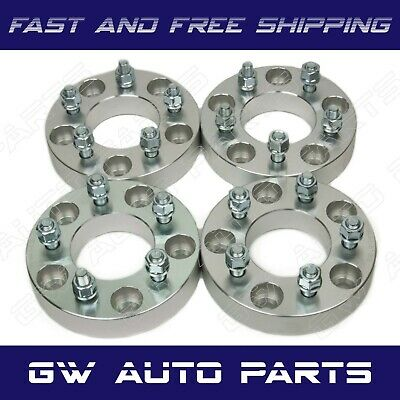 """4PC 1.25"""" WHEEL SPACER ADAPTERS 5X5 TO 5X4.5 STUD12X1.5 JEEP Dodge Chrysler Fiat"""