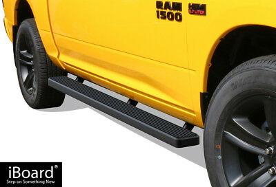 "iBoard Running Boards 5"" Matte Black Fit 09-18 Dodge Ram 1500/2500/3500 Crew Cab"
