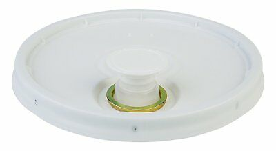 Hudson Exchange Premium Bucket Lid with Spout and Gasket, 5 Gallon, White