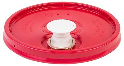 Hudson Exchange Premium Bucket Lid with Spout and Gasket, 5 Gallon, Red