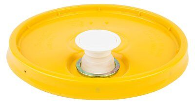 Hudson Exchange Premium Bucket Lid with Spout and Gasket, 5 Gallon, Yellow