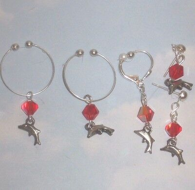 Non Piercing Nipple Rings,intimate Body Hood Clip Adornment& Pierced Earring Set