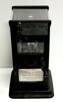 Vintage Stamp Vending Machine 4 One cent Stamps for a Nickel.